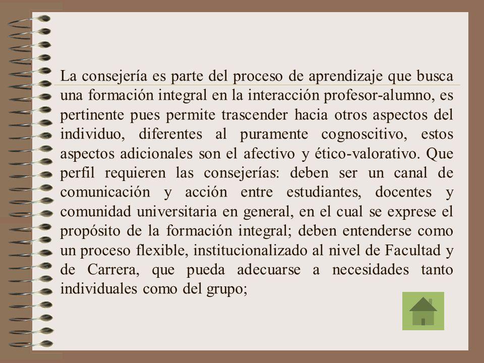 El Instrumento de las Consejerías es una estrategia adicional para lograr efectivamente la Atención Individual. De ref. 37, la atención individual es