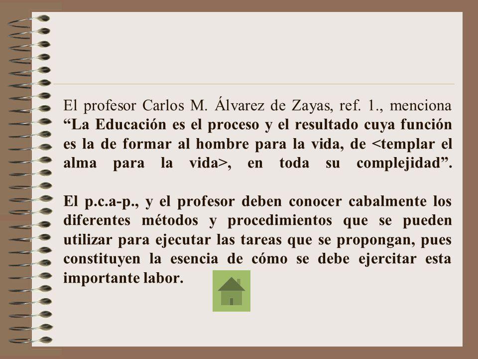 La experiencia de avanzada demuestra que el éxito del trabajo educativo no radica en el uso acertado de métodos y procedimientos aislados, sino en el