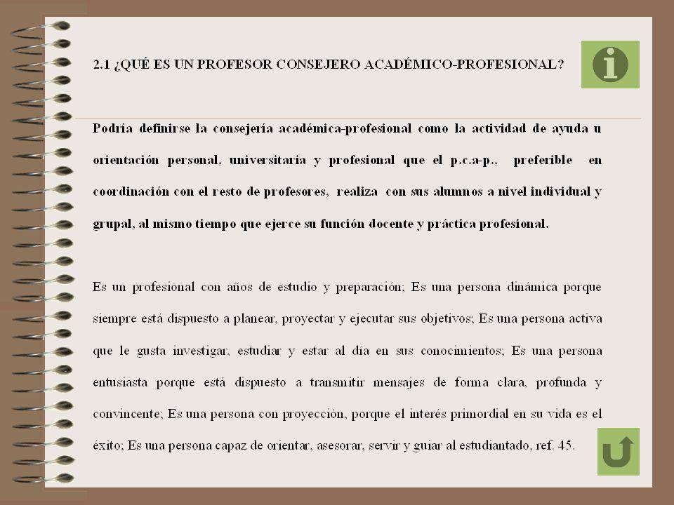 CAPÍTULO II FUNDAMENTACIÓN DE LA PROPUESTA PARA EL TRABAJO DE ASESORAMIENTO DEL PROFESOR CONSEJERO ACADÉMICO-PROFESIONAL