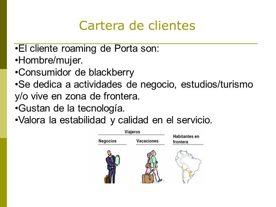 El cliente roaming de Porta son: Hombre/mujer.