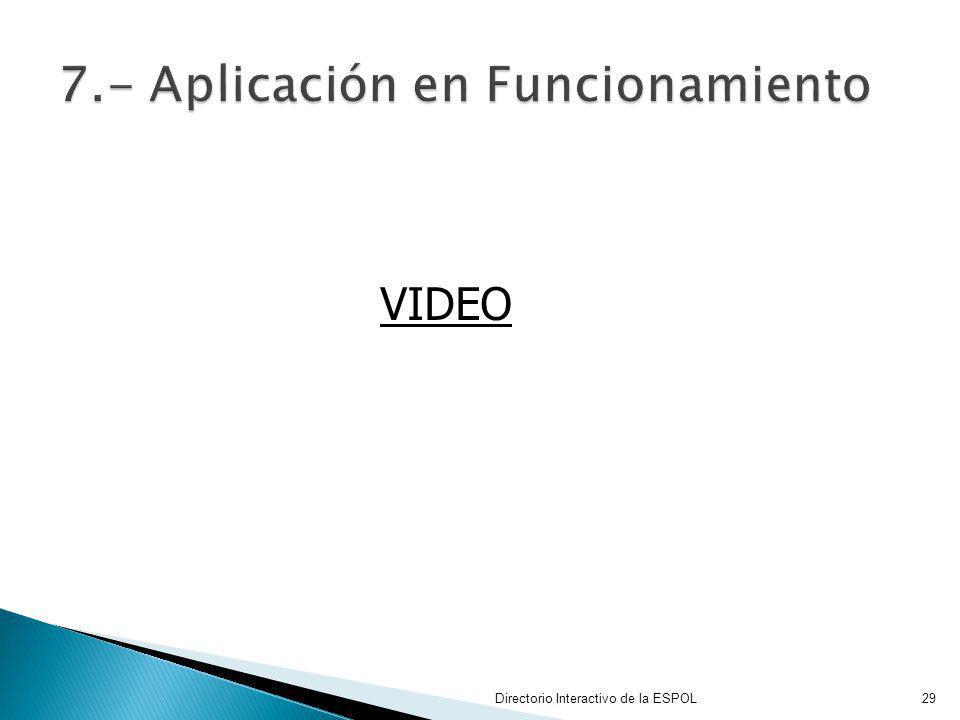Directorio Interactivo de la ESPOL29 VIDEO