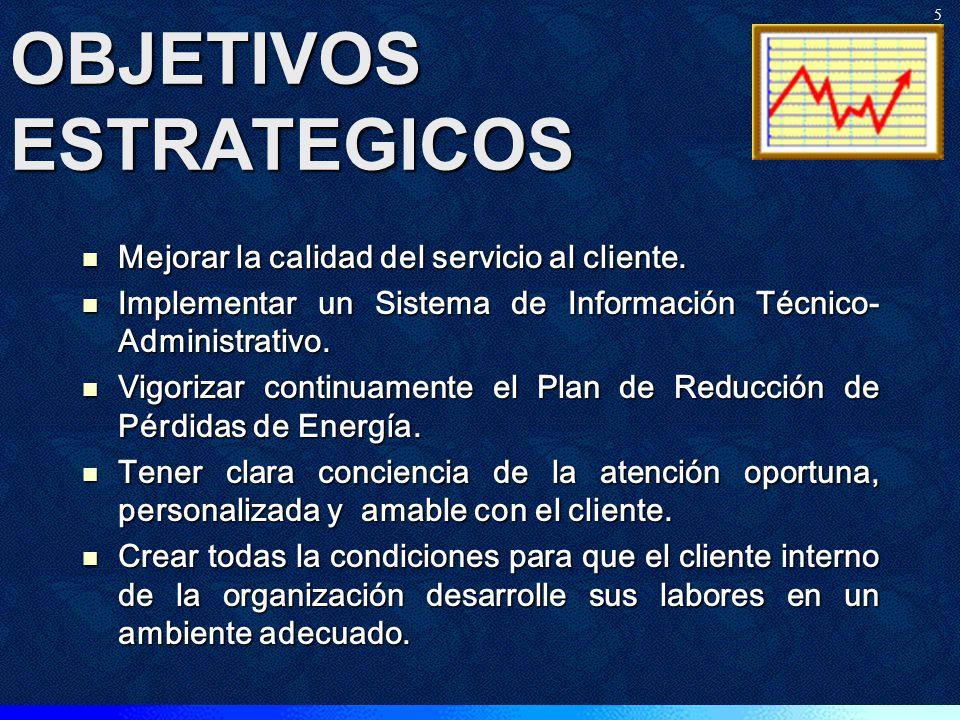 VISIÓN Convertirse al año 2010 en una Empresa Modelo del Sector Eléctrico Ecuatoriano con los menores costos optimizados del VAD y que sirva eficiente