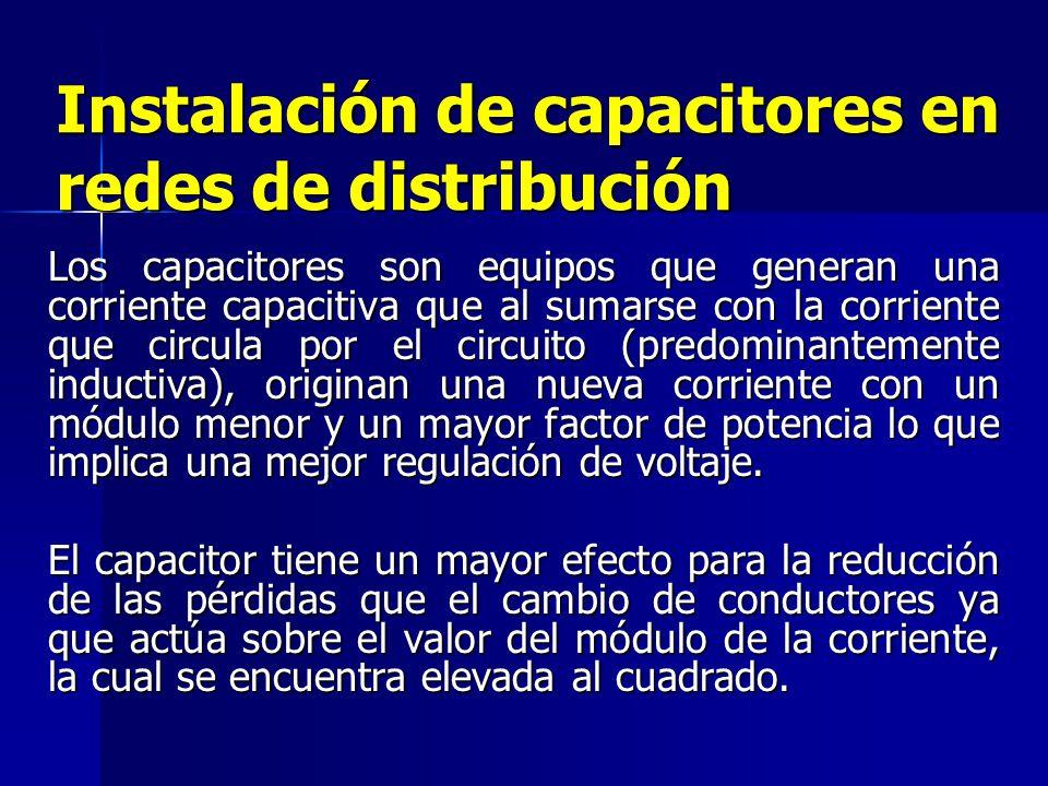 Cambio de calibre del conductor en alimentadores de distribución Esta metodología se basa en el cambio del conductor por otro de mayor sección a fin d