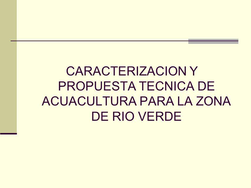 CARACTERIZACION Y PROPUESTA TECNICA DE ACUACULTURA PARA LA ZONA DE RIO VERDE