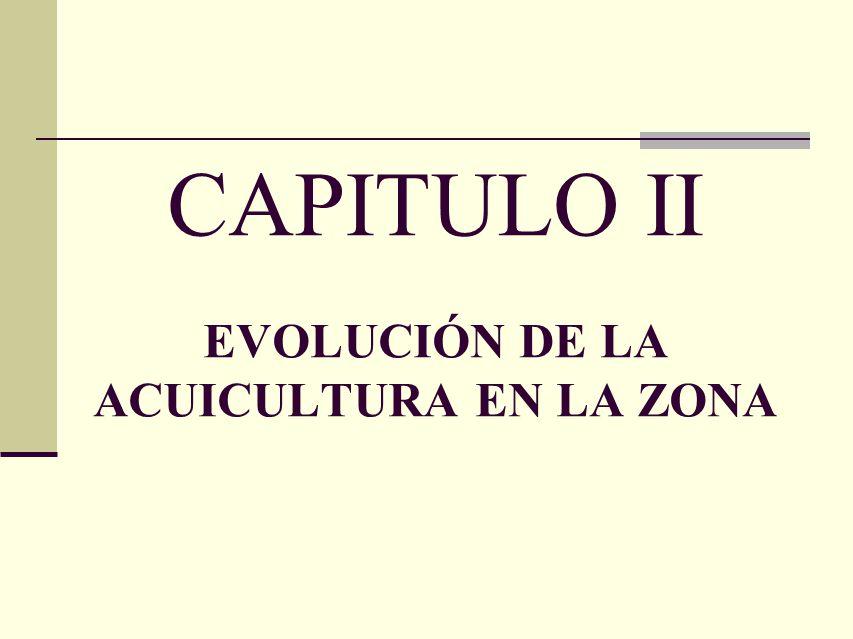 CAPITULO II EVOLUCIÓN DE LA ACUICULTURA EN LA ZONA