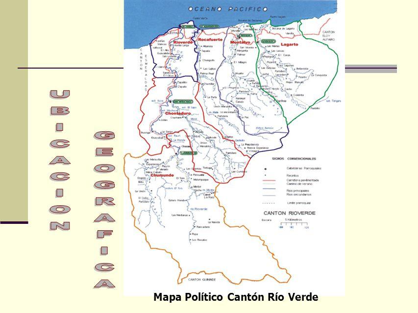 Mapa Político Cantón Río Verde
