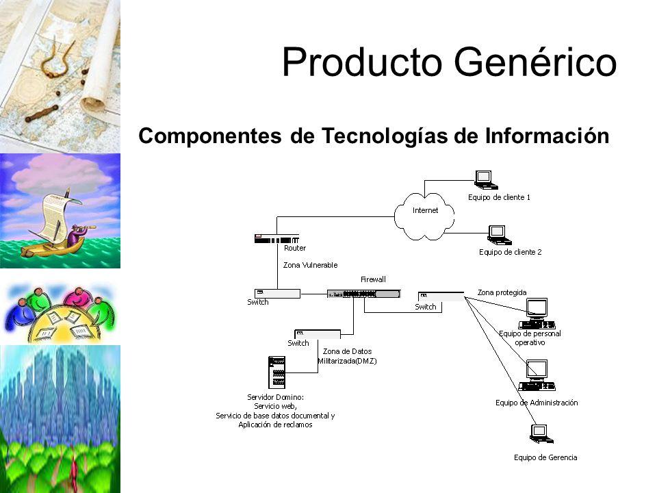 Componentes de Tecnologías de Información Producto Genérico