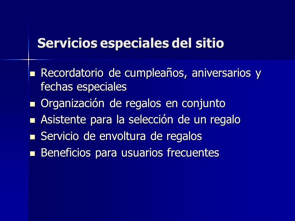 Servicios especiales del sitio Recordatorio de cumpleaños, aniversarios y fechas especiales Recordatorio de cumpleaños, aniversarios y fechas especial