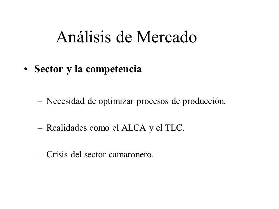 Análisis de Mercado Sector y la competencia –Necesidad de optimizar procesos de producción.