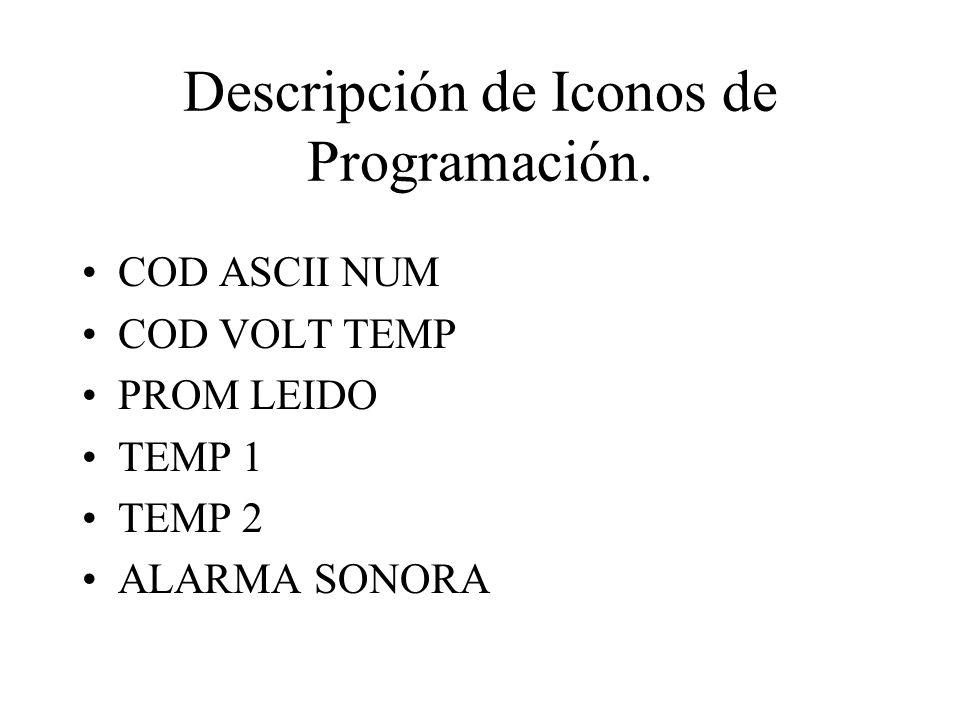 Descripción de Iconos de Programación.