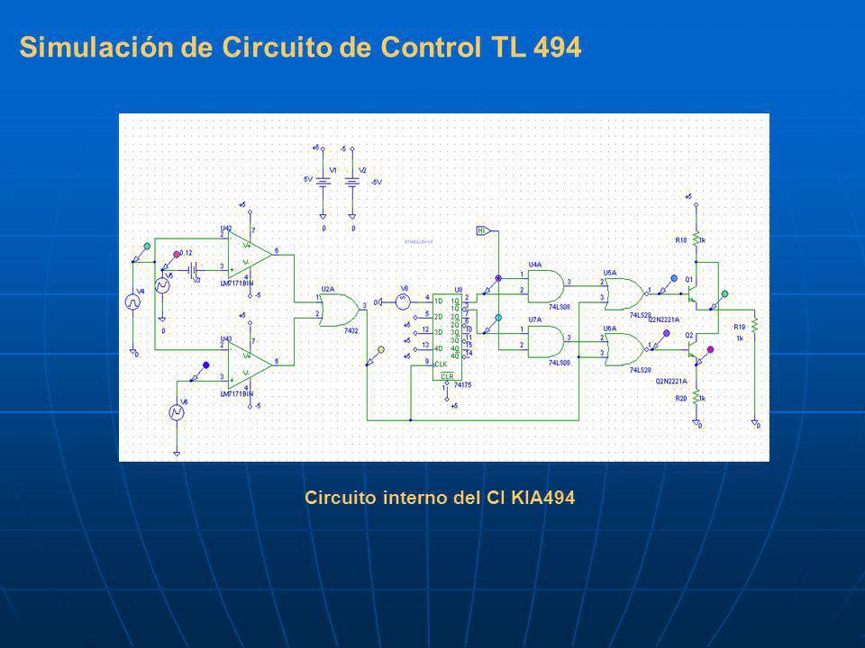 Simulación de Circuito de Control TL 494 Circuito interno del CI KIA494