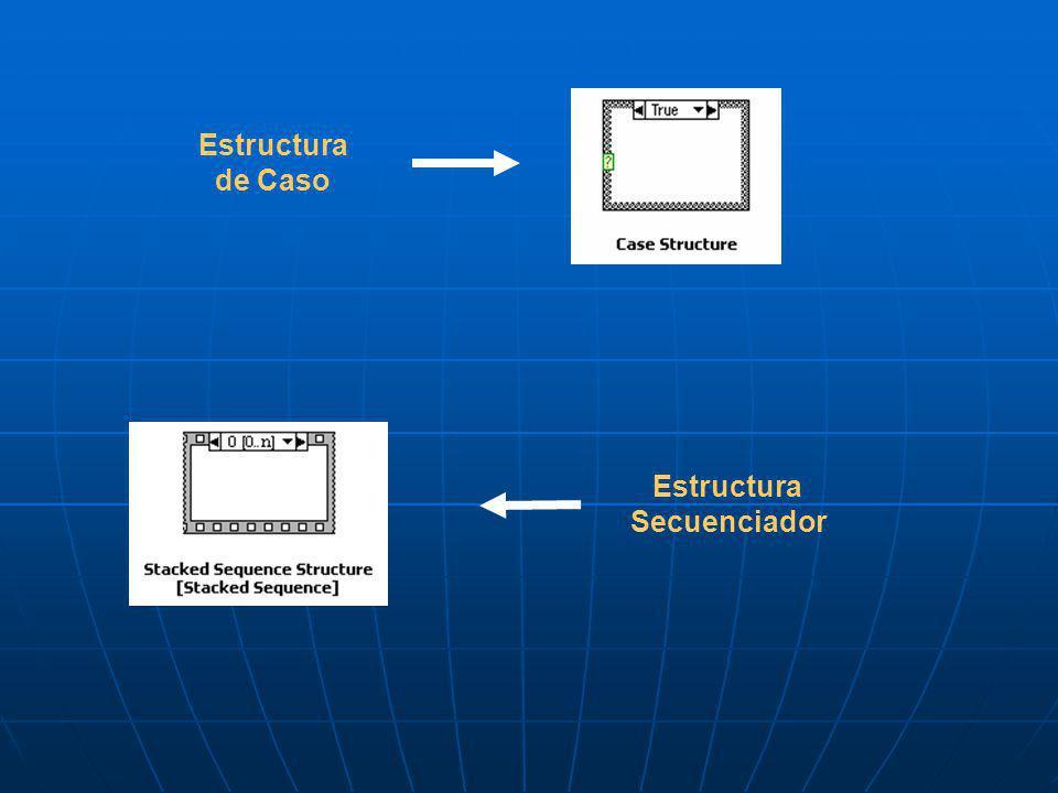 Estructura de Caso Estructura Secuenciador