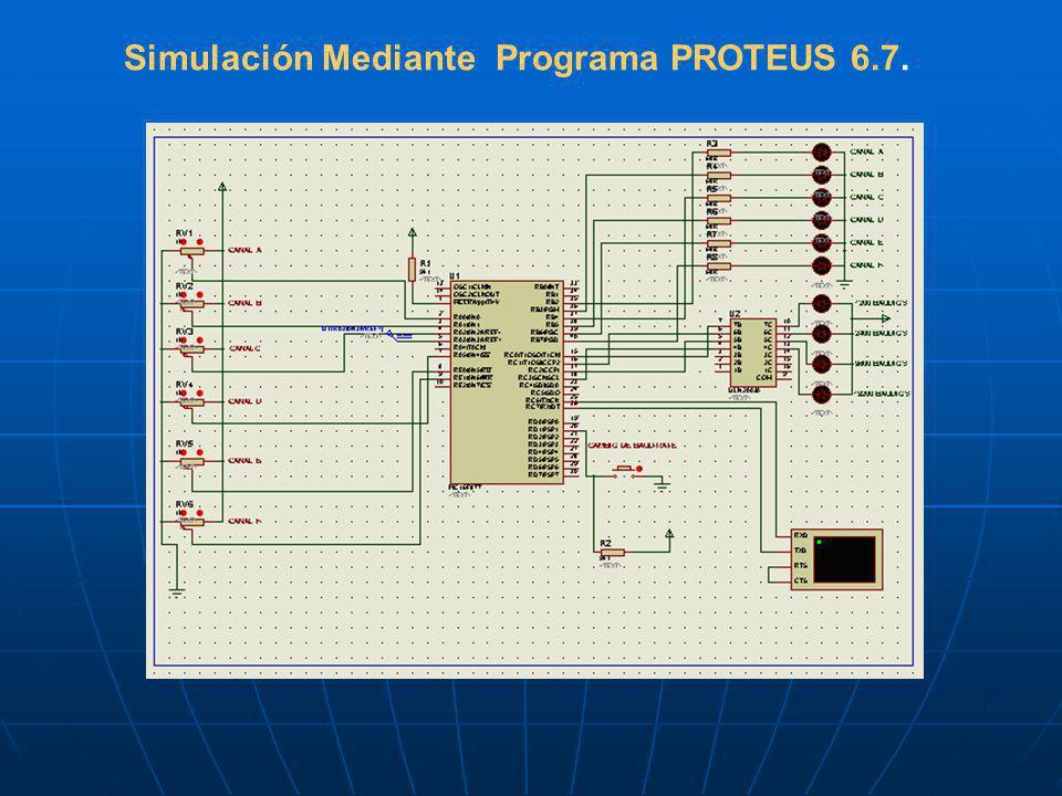 Simulación Mediante Programa PROTEUS 6.7.