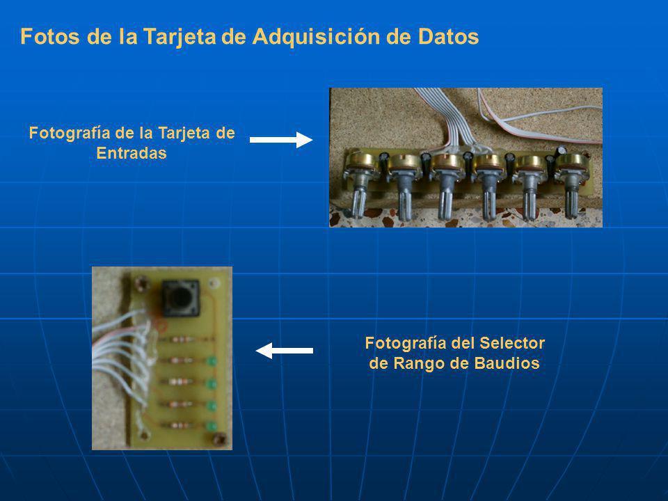 Fotos de la Tarjeta de Adquisición de Datos Fotografía de la Tarjeta de Entradas Fotografía del Selector de Rango de Baudios