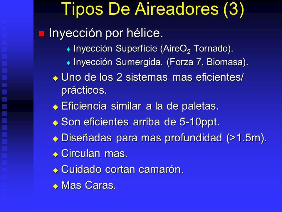 Tipos De Aireadores (3) Inyección por hélice.Inyección por hélice.