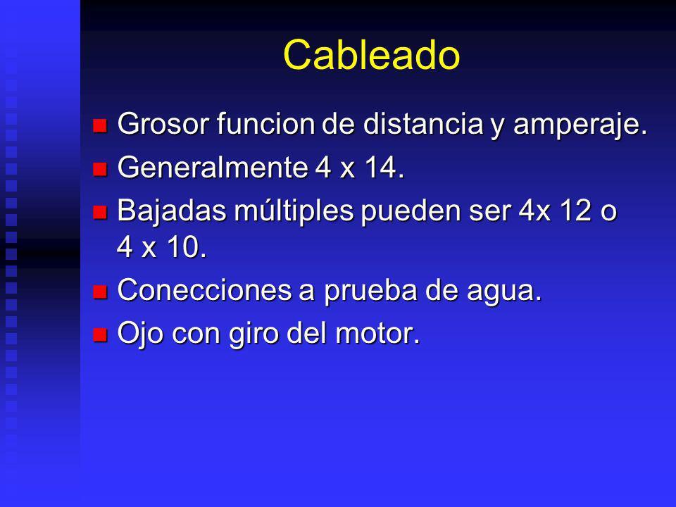 Cableado Grosor funcion de distancia y amperaje.Grosor funcion de distancia y amperaje.