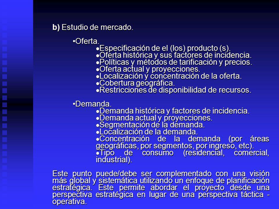 Preparación y evaluación de proyectos (Contenidos mínimos). I. Preparación del proyecto. a) Antecedentes generales. Industria, ámbito o sector del pro