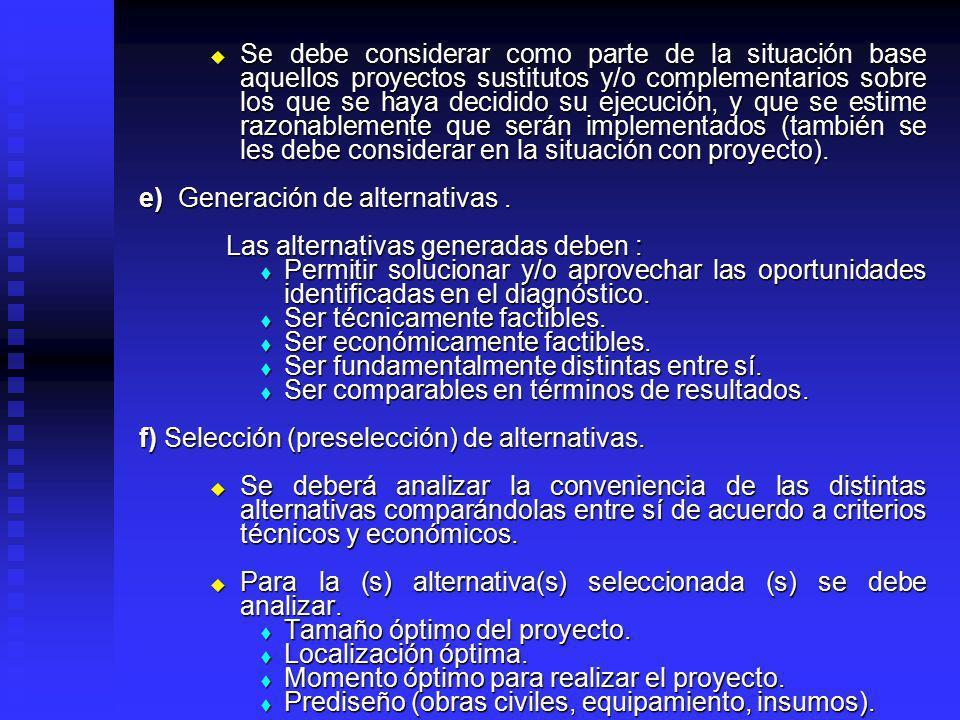 c) Diagnóstico. Antecedentes generales + estudio de mercado definición de situación sin proyecto. Ejemplos de resultados de diagnóstico. Demanda insat