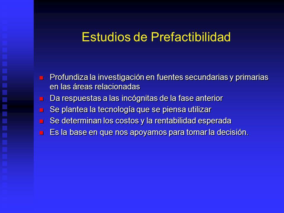 Perfil.- Análisis del Entorno El análisis del entorno corresponde a un análisis de prefactibilidad preliminar. El análisis del entorno corresponde a u