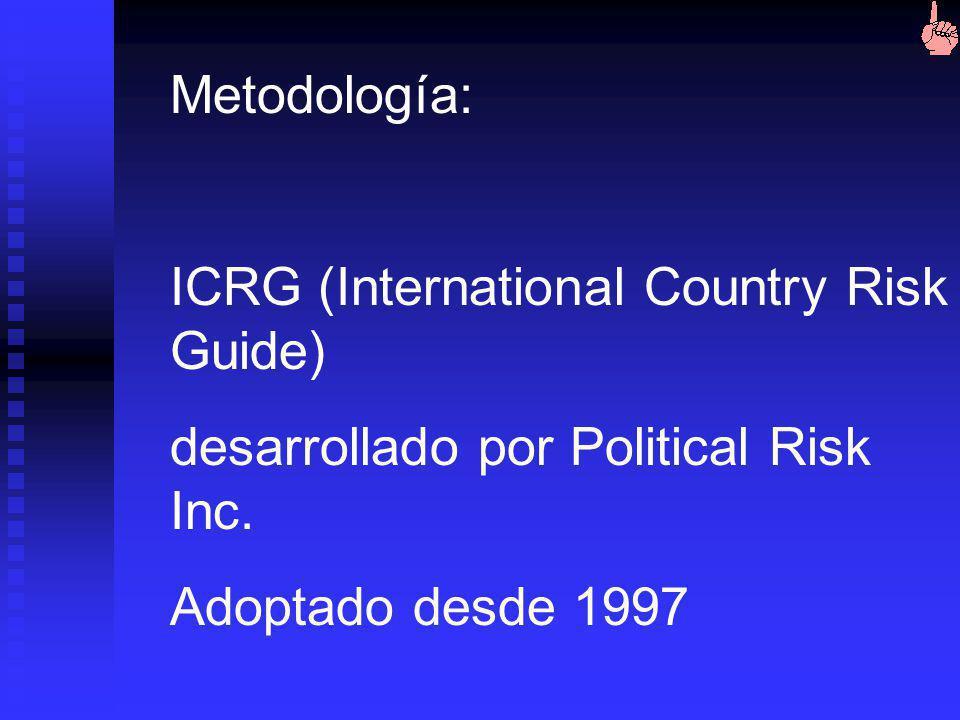 Objetivo de los estudios riesgo país: Describir, explicar y predecir condiciones sociales, políticas y económicas que afectan de manera potencial o re