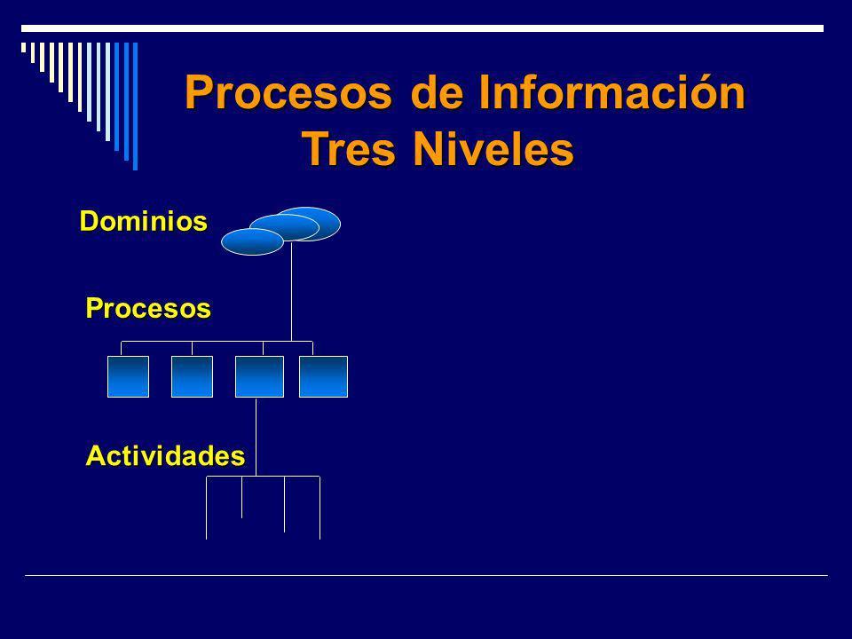 Procesos de Información Procesos de Información Tres Niveles Dominios Procesos Actividades