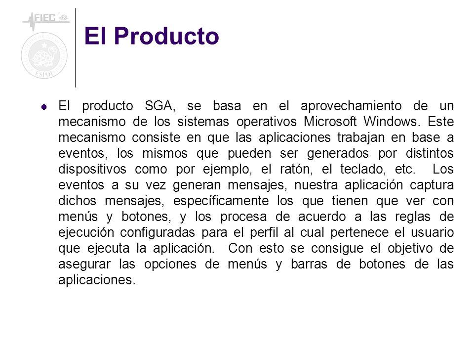 El Producto El producto SGA, se basa en el aprovechamiento de un mecanismo de los sistemas operativos Microsoft Windows. Este mecanismo consiste en qu