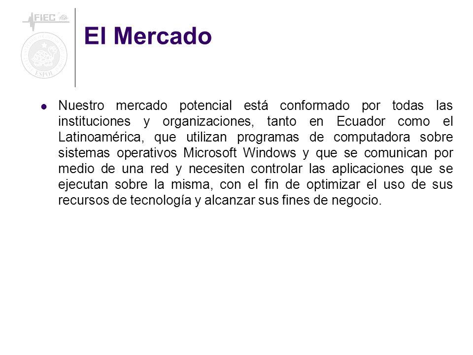 El Mercado Nuestro mercado potencial está conformado por todas las instituciones y organizaciones, tanto en Ecuador como el Latinoamérica, que utiliza