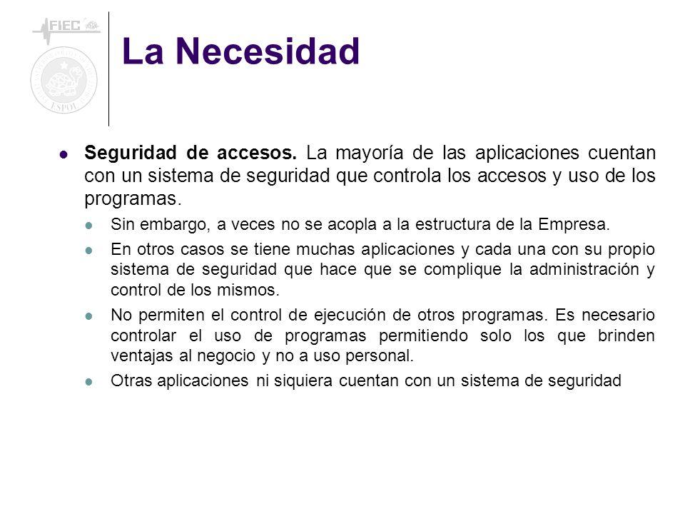 La Necesidad Seguridad de accesos.