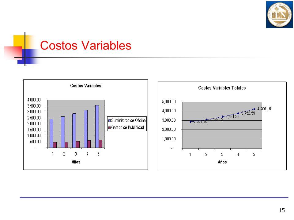 15 Costos Variables