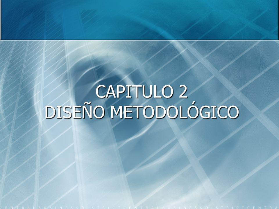 CAPITULO 2 DISEÑO METODOLÓGICO