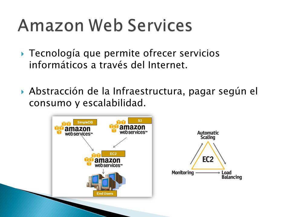 Tecnología que permite ofrecer servicios informáticos a través del Internet. Abstracción de la Infraestructura, pagar según el consumo y escalabilidad
