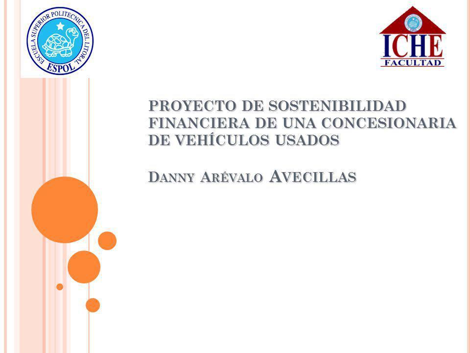 PROYECTO DE SOSTENIBILIDAD FINANCIERA DE UNA CONCESIONARIA DE VEHÍCULOS USADOS D ANNY A RÉVALO A VECILLAS