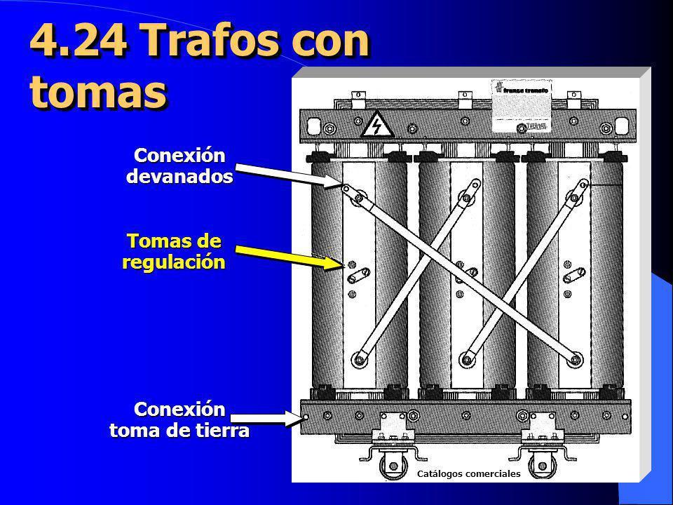 Tomas de regulación Conexióndevanados Conexión toma de tierra 4.24 Trafos con tomas tomas Catálogos comerciales Catálogos comerciales