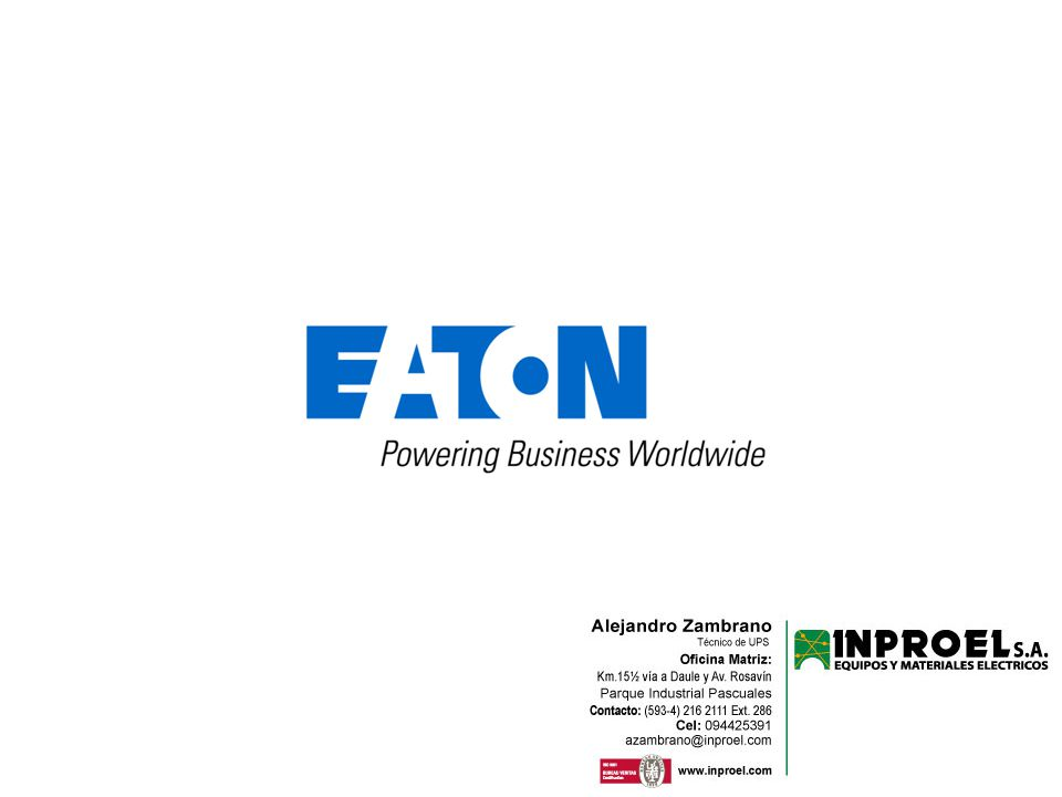 21 © 2011 Eaton Corporation. All rights reserved.
