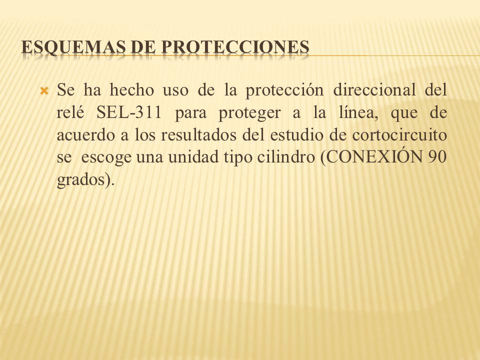 Se ha hecho uso de la protección direccional del relé SEL-311 para proteger a la línea, que de acuerdo a los resultados del estudio de cortocircuito s
