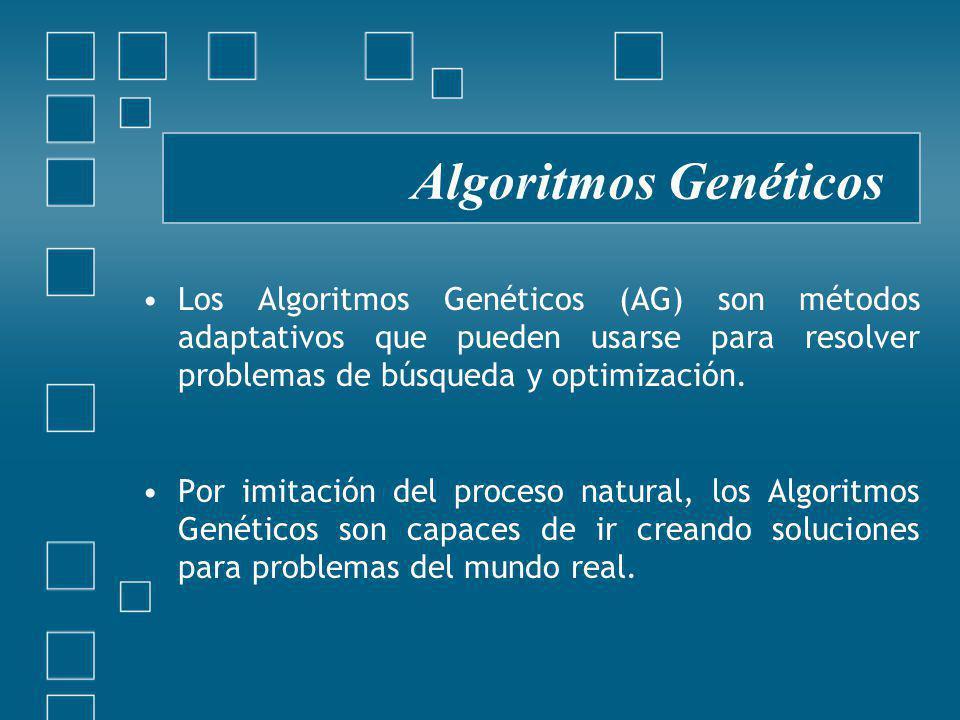 Los Algoritmos Genéticos (AG) son métodos adaptativos que pueden usarse para resolver problemas de búsqueda y optimización.