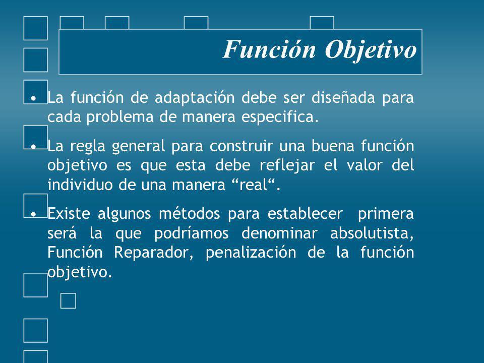 La función de adaptación debe ser diseñada para cada problema de manera especifica.