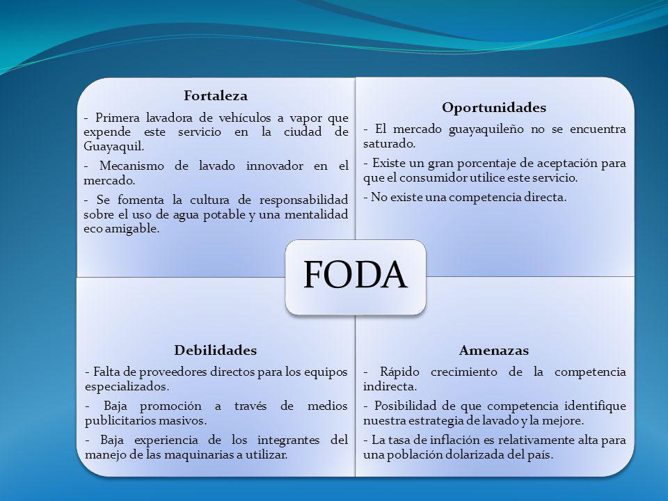 Fortaleza - Primera lavadora de vehículos a vapor que expende este servicio en la ciudad de Guayaquil. - Mecanismo de lavado innovador en el mercado.