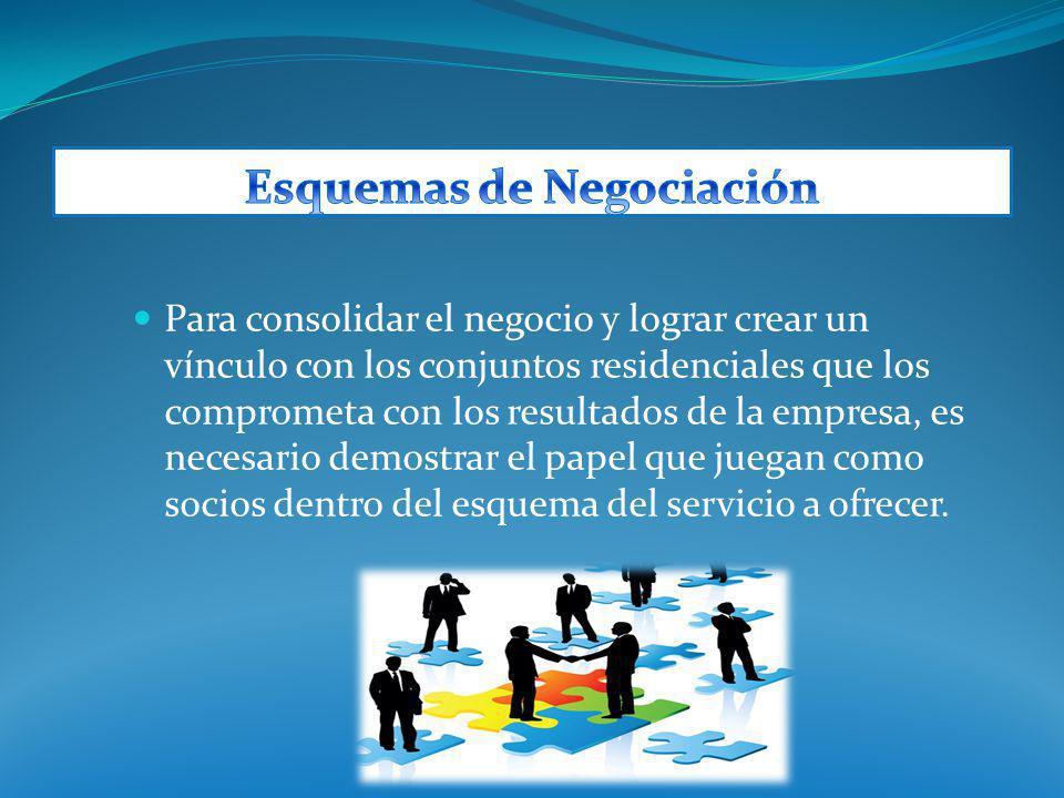 Para consolidar el negocio y lograr crear un vínculo con los conjuntos residenciales que los comprometa con los resultados de la empresa, es necesario