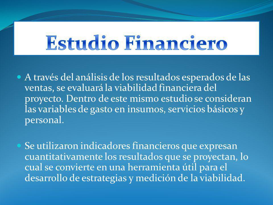 A través del análisis de los resultados esperados de las ventas, se evaluará la viabilidad financiera del proyecto. Dentro de este mismo estudio se co
