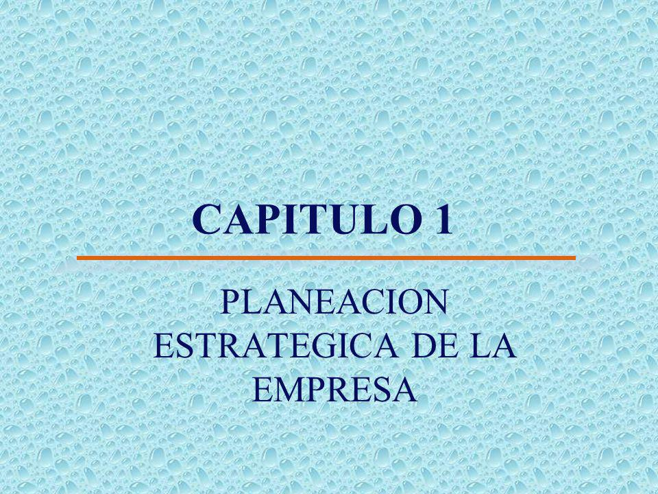 CAPITULO 1 PLANEACION ESTRATEGICA DE LA EMPRESA