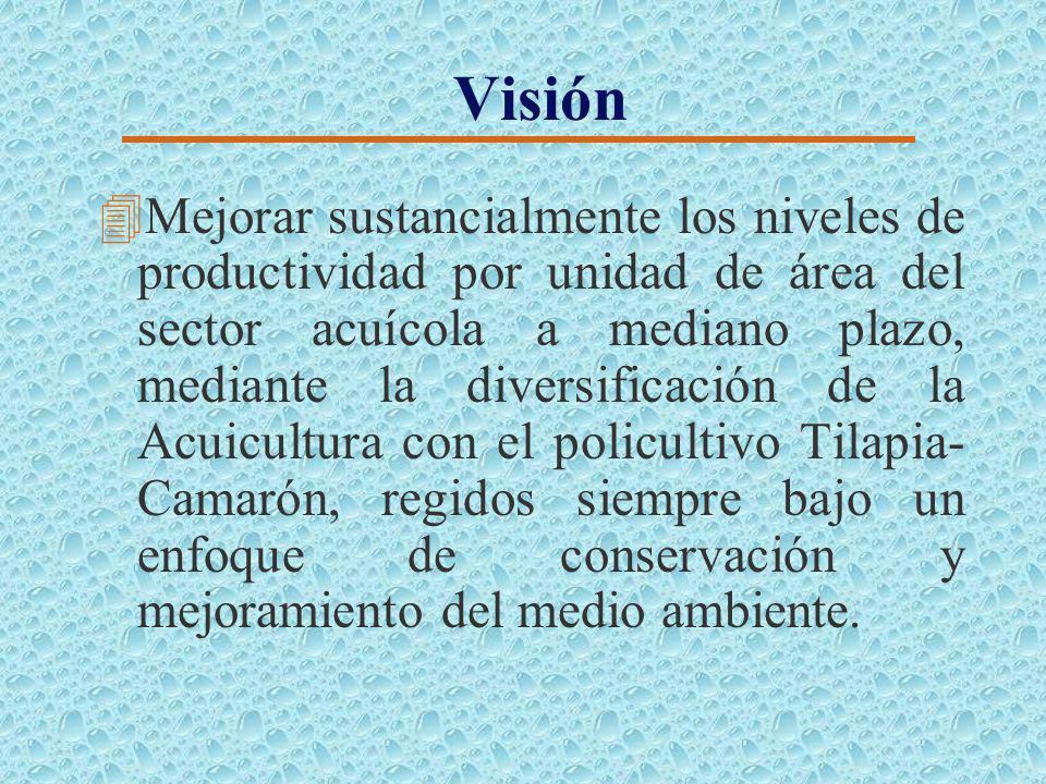 Misión 4Ofrecer una alternativa para impulsar el aprovechamiento sustentable a largo plazo de la infraestructura acuícola existente, para hacerla efic