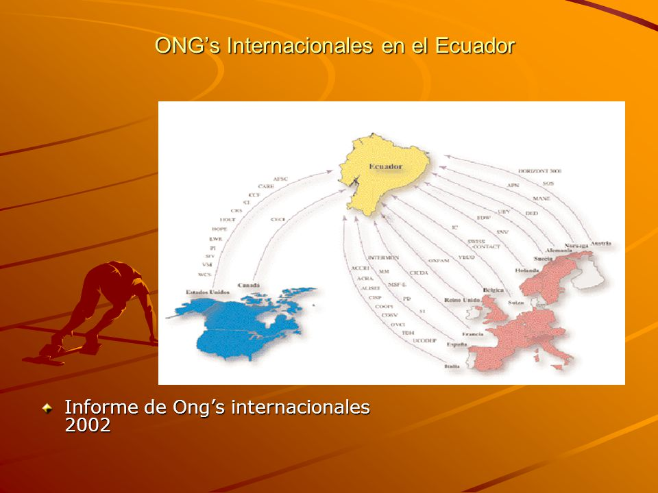 ONGs Internacionales en el Ecuador Informe de Ongs internacionales 2002