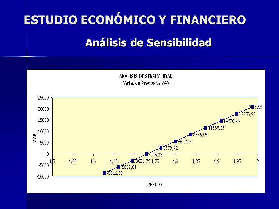 ESTUDIO ECONÓMICO Y FINANCIERO Análisis de Sensibilidad