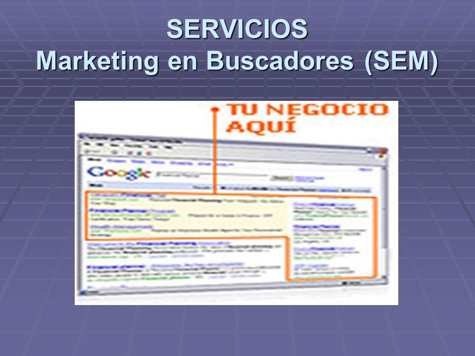 SERVICIOS Marketing en Buscadores (SEM)