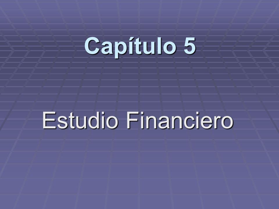 Capítulo 5 Estudio Financiero