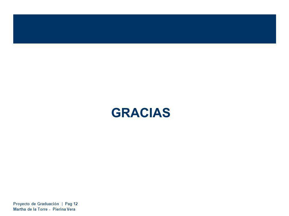 Proyecto de Graduación | Pag 12 Martha de la Torre - Pierina Vera GRACIAS
