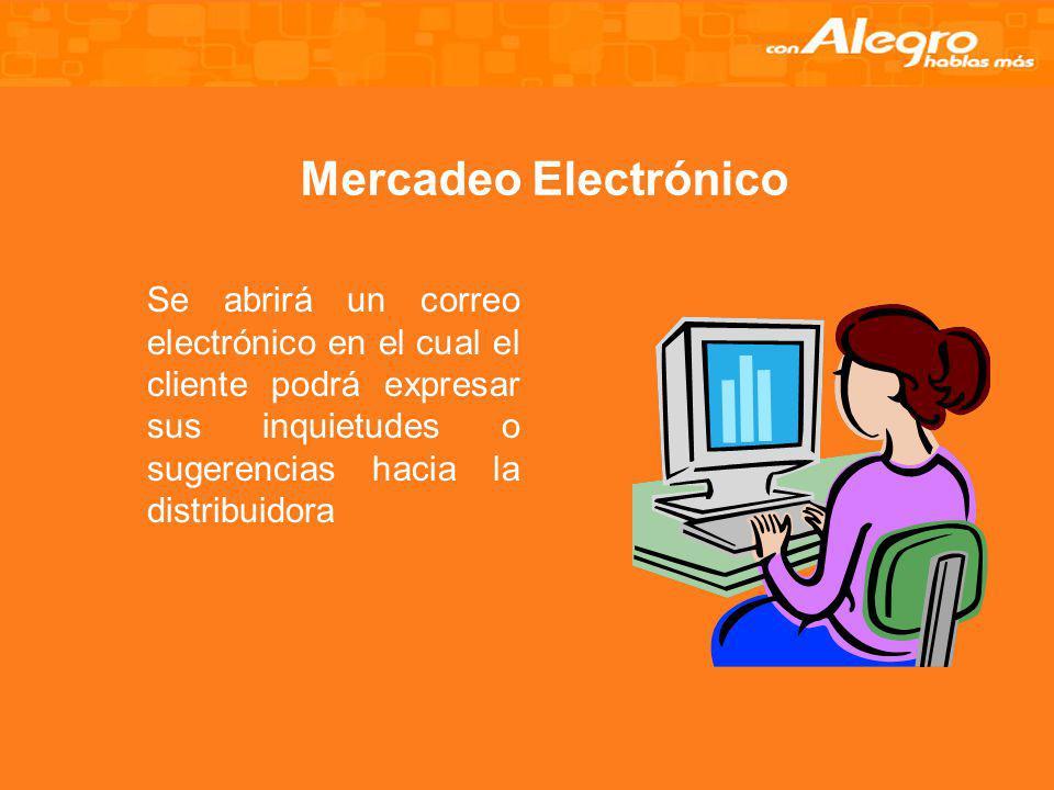 Marketing Directo Realizaremos contactos en varias empresas con el objetivo de mandar por mail la información de la distribuidora; además se realizará