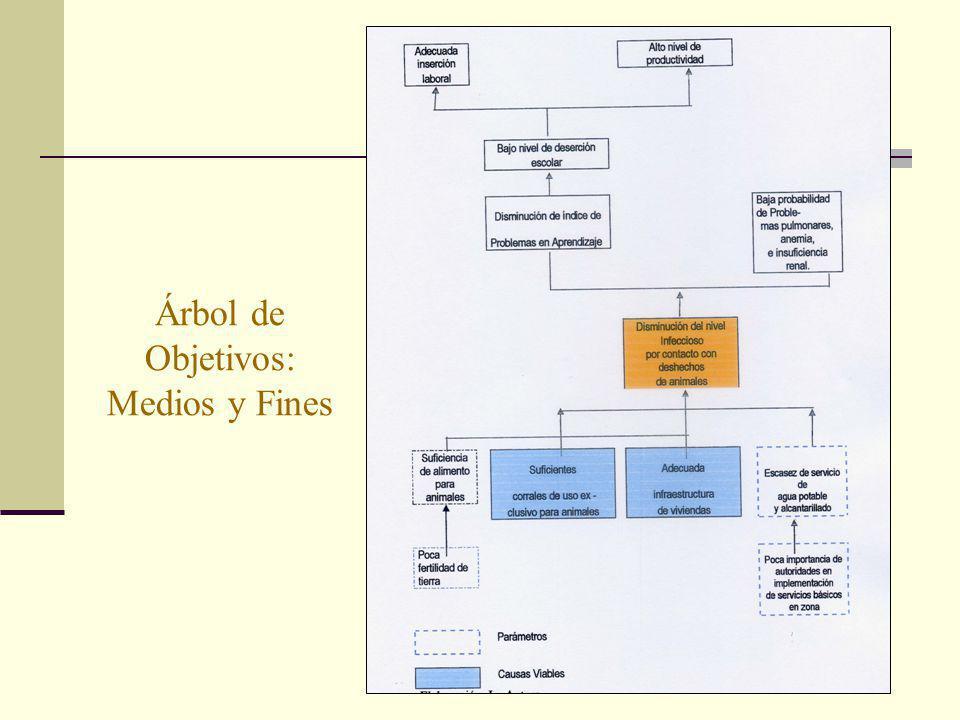 Árbol de Objetivos: Medios y Fines