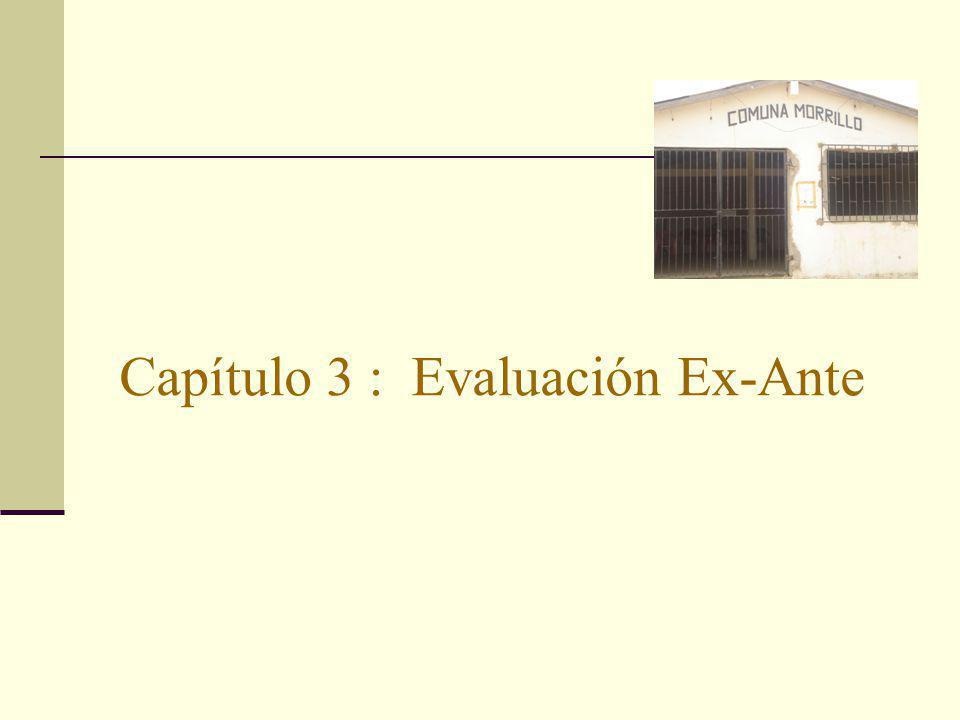 Capítulo 3 : Evaluación Ex-Ante